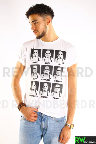 T-shirt Homme Exclusive A Trooper Star Wars Hangry Happy Sad