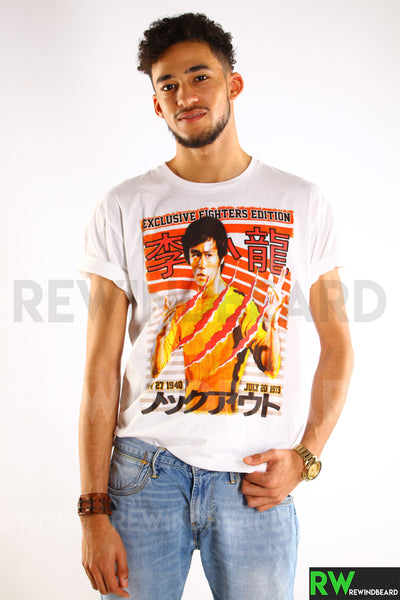 T-shirt Homme Exclusive A Fighter Edition Bruce Lee  Born 1940 Dies 1973