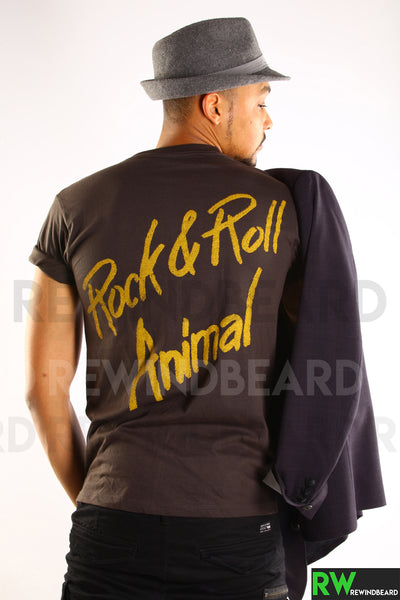 "T-shirt Rock Homme Lou Reed ""Rock & Roll Animal"" Vintage Style"