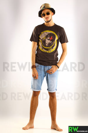 T-shirt Rock Homme Nirvana Kurt Cobain Smiley version 2 Vintage Style