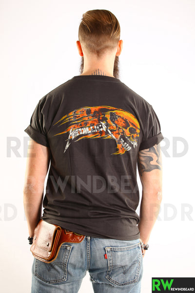 T-shirt Homme Rock Metallica Recto/Verso Vintage Style