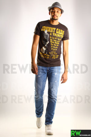 T-shirt Homme Rock Johnny Cash A Tribute Vintage Style
