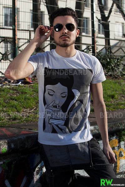 T-shirt Homme Exclusive A Blanche Neige Coke Cocaine Humour Décalé!!