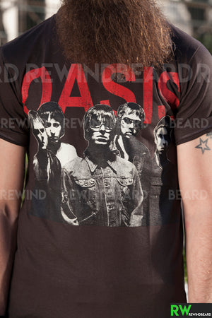 T-shirt Homme Rock Oasis Oasismania Gallagher Vintage Style