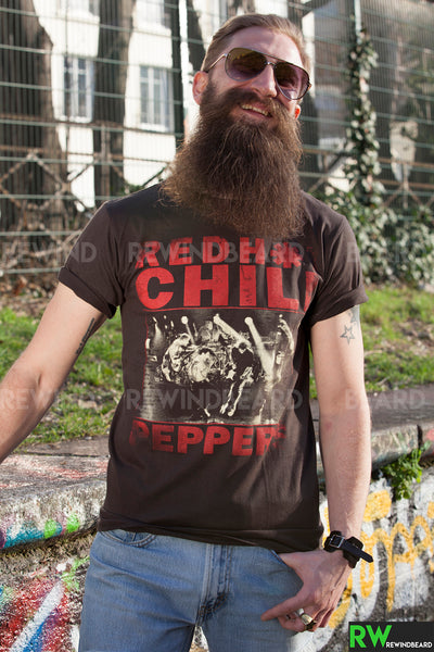 T-shirt Homme Rock Red Hot Chili Peppers Concert Vintage Style