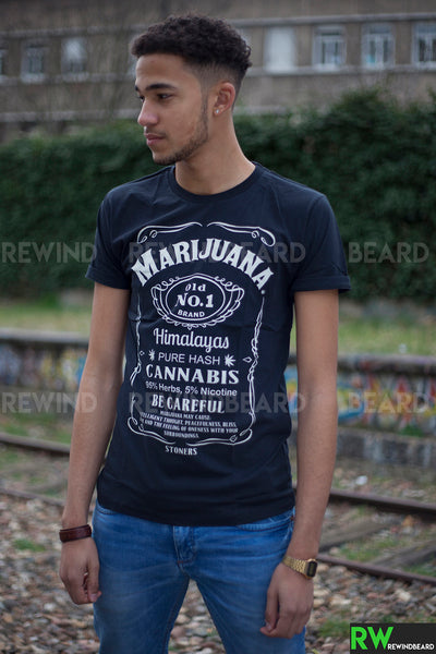 T-shirt Homme Exclusive A Marijuana Cannabis Pure Hash Jack Style!!