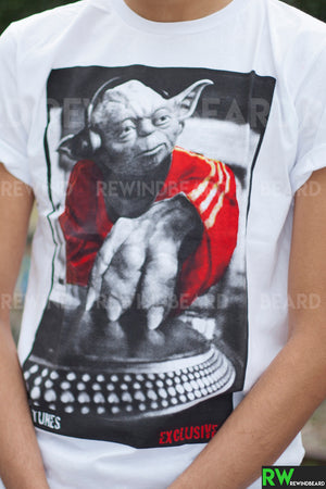 T-shirt Homme Exclusive A Dj's Yoda Star Wars Platine Technics