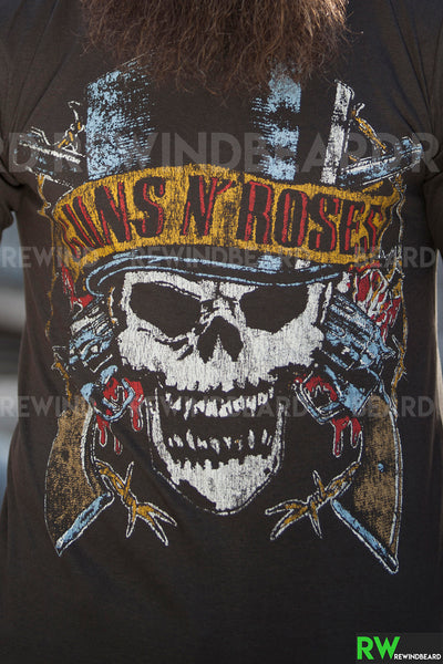 "T-shirt Rock Homme Guns N' Roses ""North American Tour 1989"" Vintage Style"