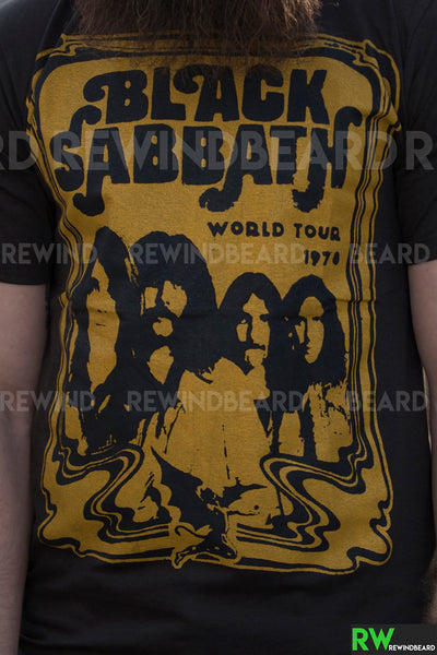 "T-shirt Rock Homme Black Sabbath ""World Tour 1978"" Vintage Style"