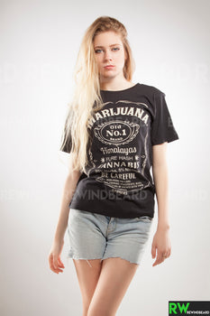T-shirt Femme Exclusive A Marijuana Jack Style Cannabis