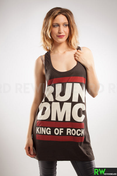 Tunique Rock Femme Run DMC D.M.C King Of Rock Style vintage