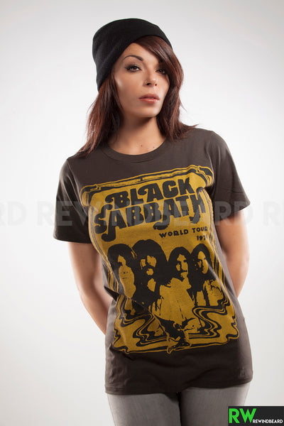 "T-shirt Rock Femme Black Sabbath ""World Tour 1978"" vintage Style"