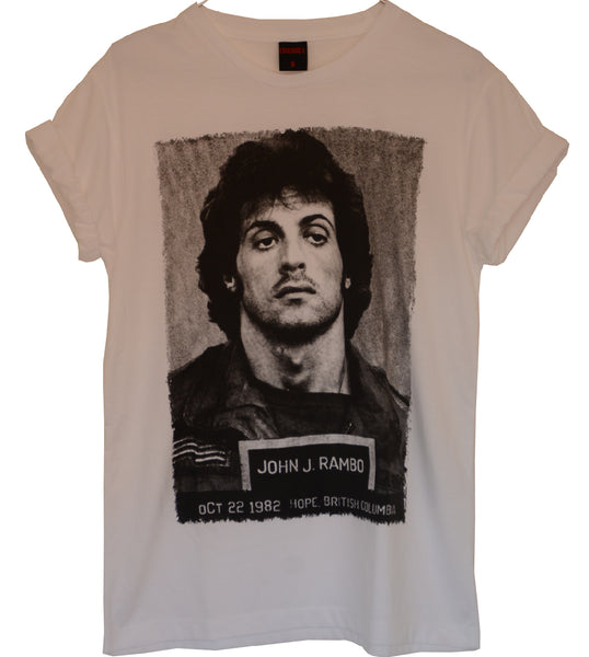 T-shirt Femme Exclusive A John J.Rambo Sylvester Stalone Vintage