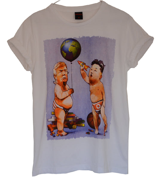 T-shirt Femme Exclusive A Donald Trump & Kim Jong Un Humour