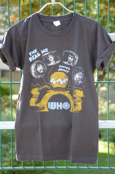 "T-shirt Rock Femme The Who ""The Real me"" Doctor Jimmy Style vintage"