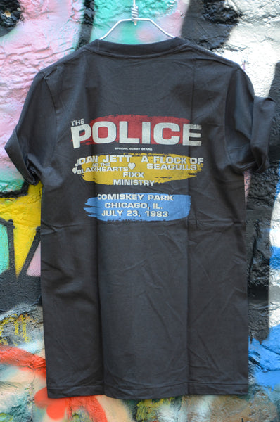 "T-shirt Rock Femme The Police ""North American Tour"" Style vintage"