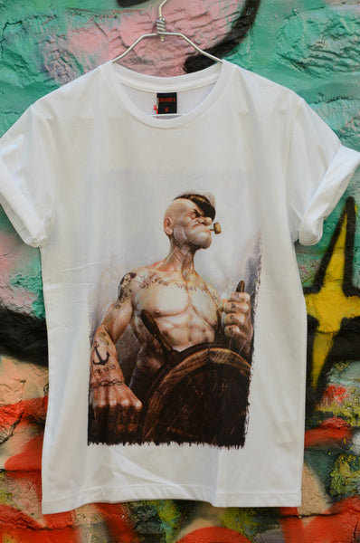 T-shirt Homme Exclusive A Popeye Marin Tatouage
