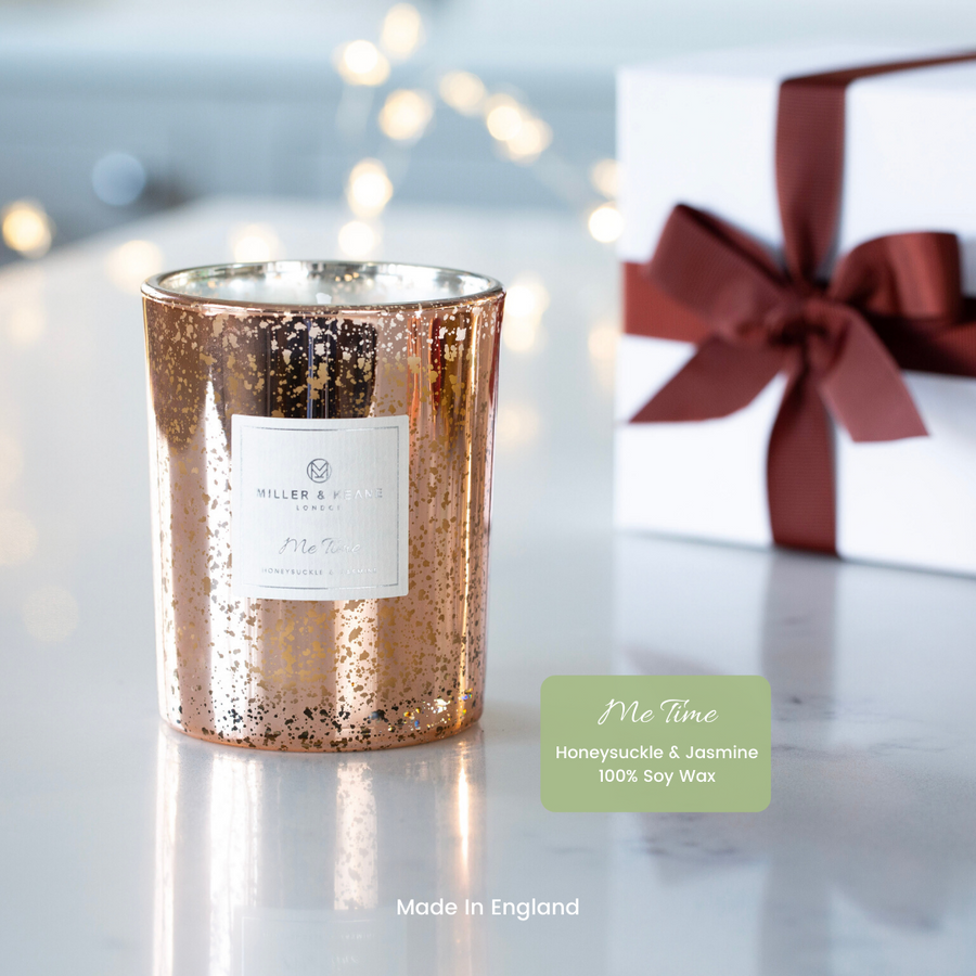 Stunning Rose Gold Electroplated 'Me Time' Soy Scented  candle