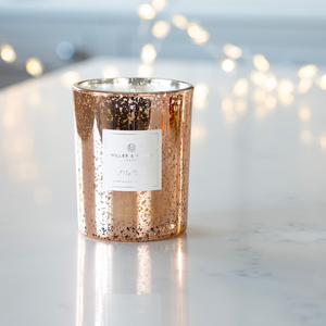 New! Rose Gold Electroplated 'Me Time' Soy Scented  candle
