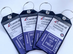 Caribbean Cruise Accessories, Cruise Accessories, Cruise Junkie Luggage Tags, Cruise Tags, Durable Cruise Luggage Tags, Zip Seal Cruise Luggage Tags, Waterproof Cruise Luggage Tags, Secure Cruise Luggage Tags