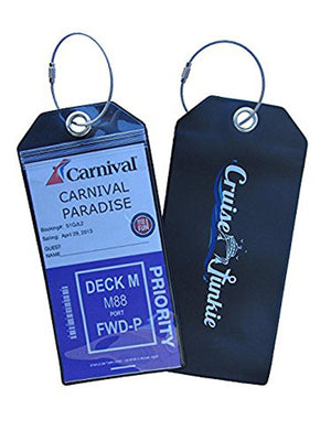 Cruise Accessories, Cruise, Cruise Junkie Luggage Tags, Cruise Luggage Tags, Durable Cruise Luggage Tags, Zip Seal Cruise Luggage Tags, Waterproof Cruise Luggage Tags, Secure Cruise Luggage Tags