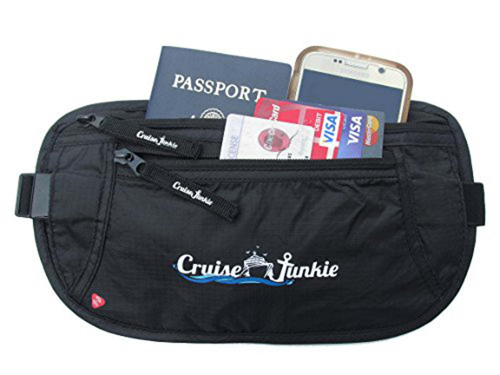 Money belt, Cruise Accessories, Cruise Junkie Money Belt, Cruise Junkie SeaSafe, RFID Blocking Money Belt, Travel Belt, Passport Holder, Waist Wallet, Waist Pouch, Cruise Travel Bag