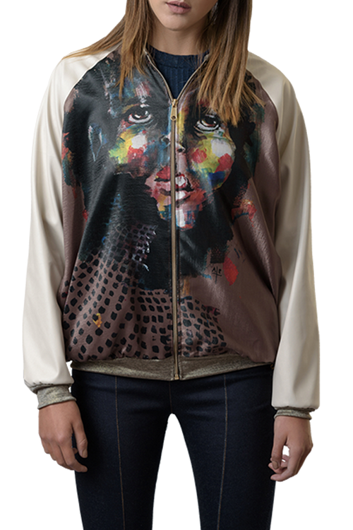 Color Face Bomber Jacket - Diana Armas