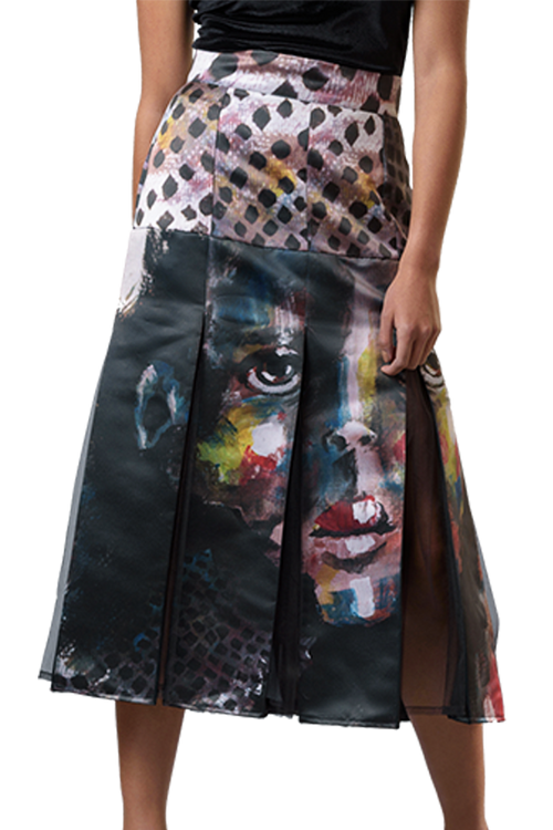 Cutted Face Skirt - Diana Armas