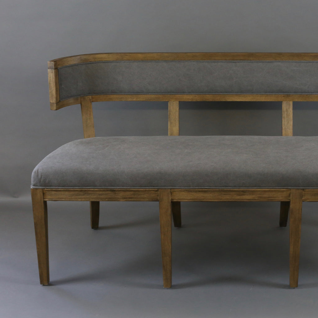 Linen Curved Back Bench