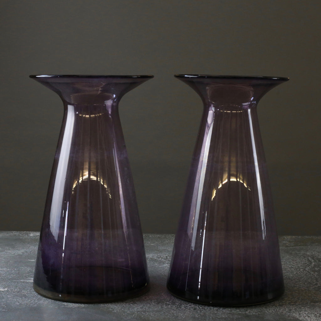 Pair of Oversized Blenko Glass Vases