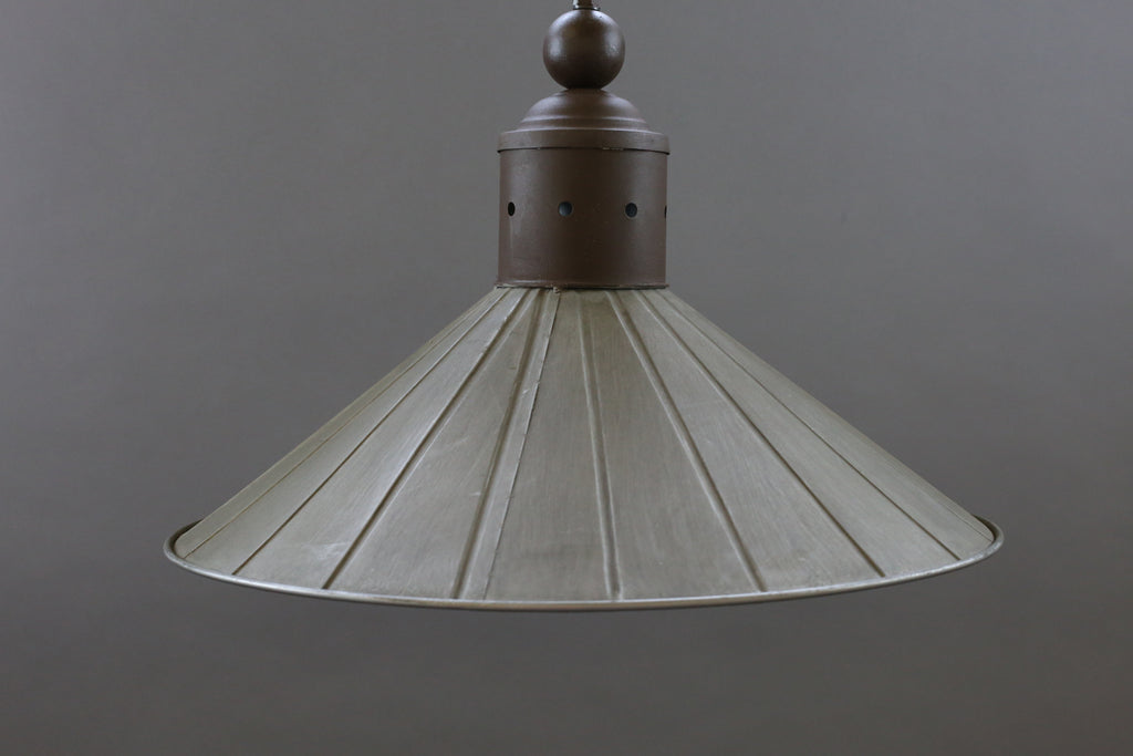 Grey Metal Pendant Light