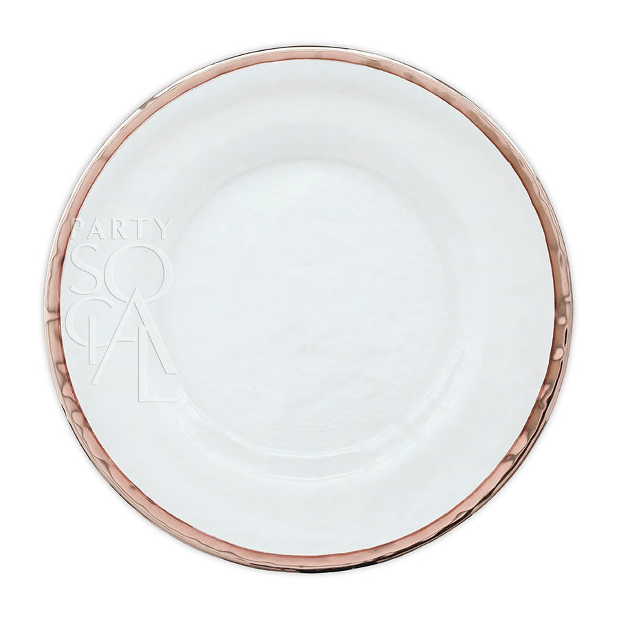 CHARGER PLATE - ROSE GOLD RIM