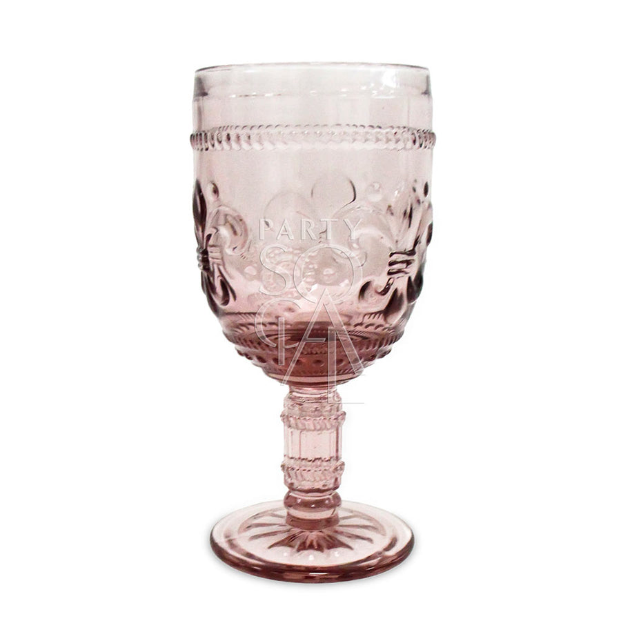 VINTAGE DIAMOND GOBLET GLASS