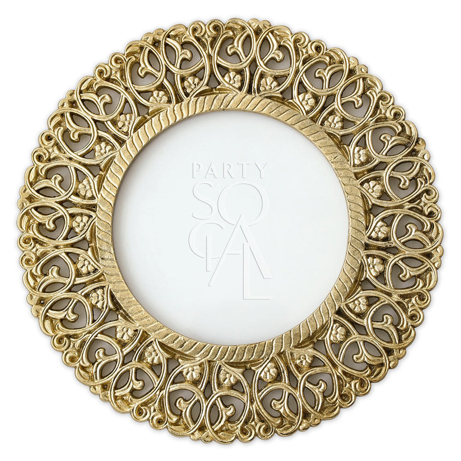 CHARGER PLATE - BRASS