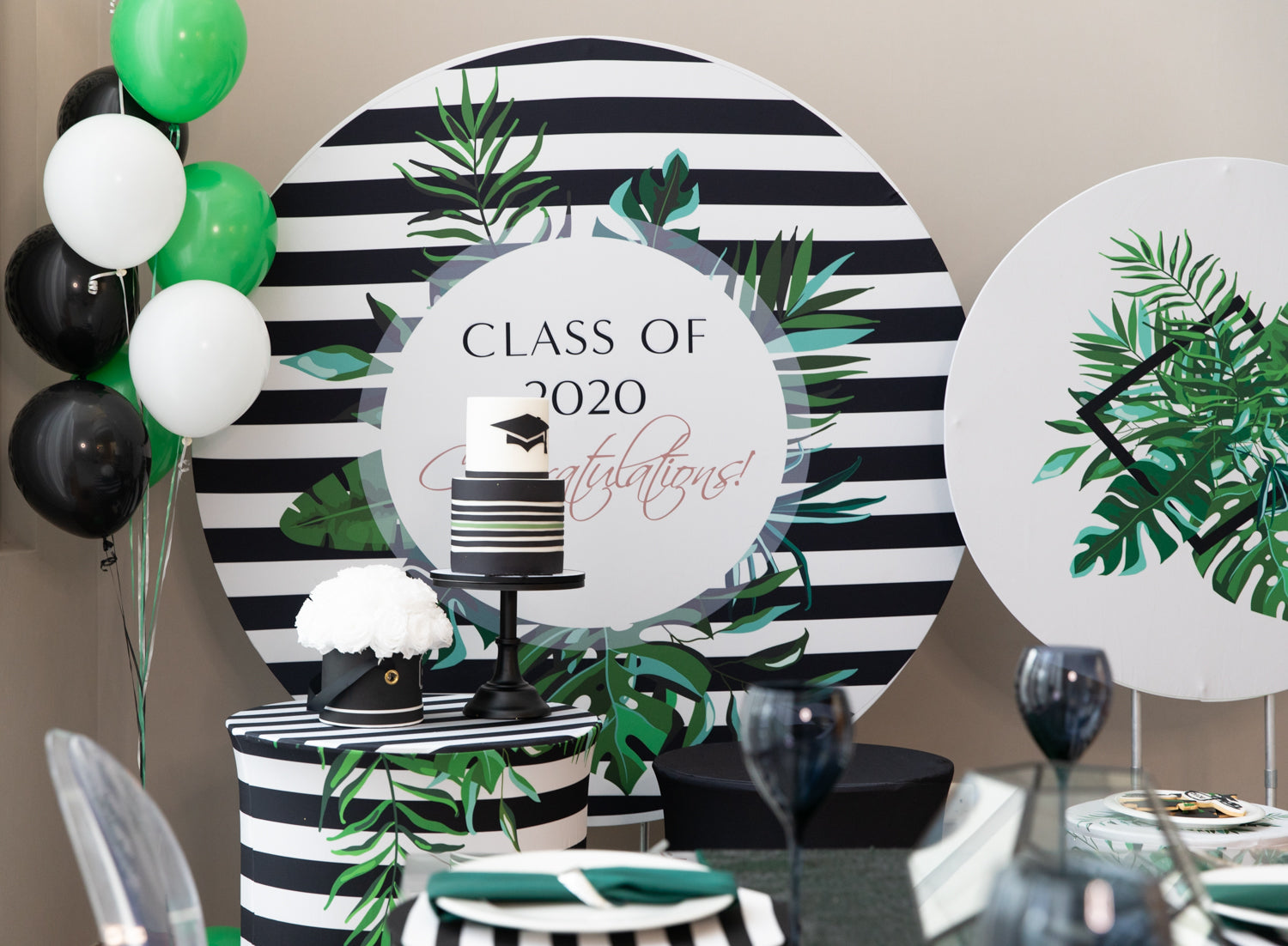 Graduation Modern Jungle Decor Box