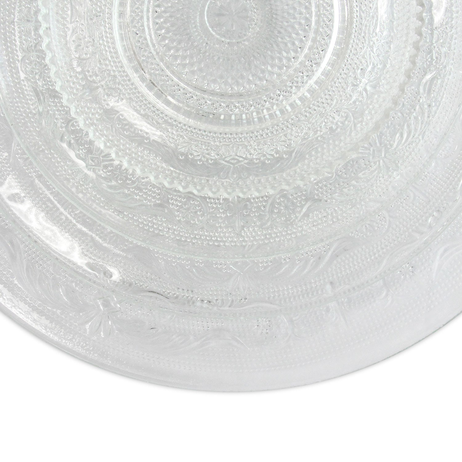 Charger Plate - Vintage Clear Glass 13""