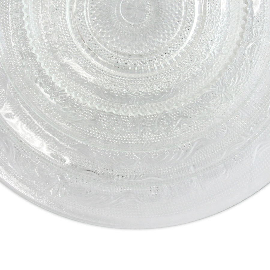 CHARGER PLATE - VINTAGE CLEAR GLASS 13
