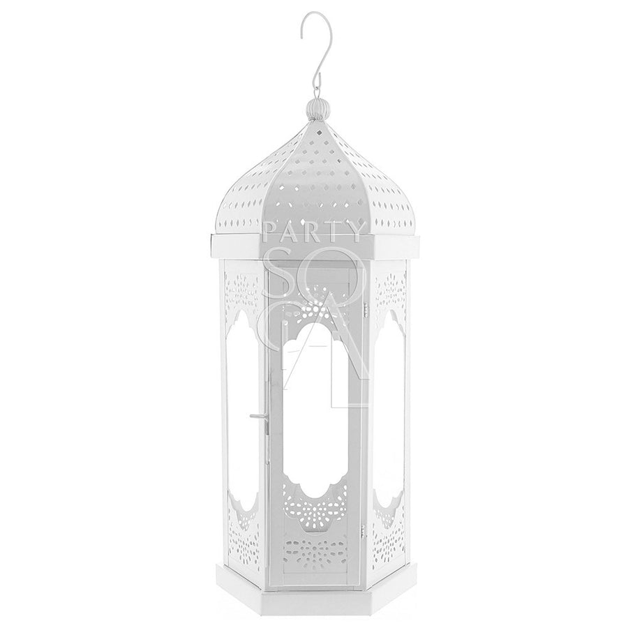 WHITE MOROCCAN LANTERNS