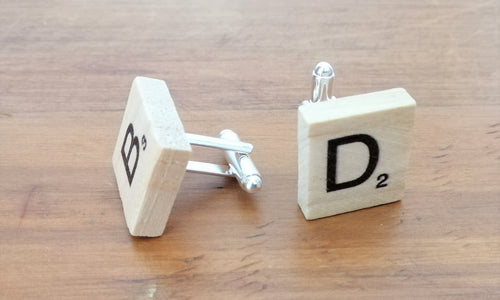 Scrabble cufflinks (one pair)