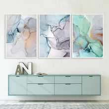 "Load image into Gallery viewer, Abstract Watercolor Canvas Prints Painting & Calligraphy sweet-life A4 / 8.27"" x 11.69"" / 21 x 30 cm Set of 3"