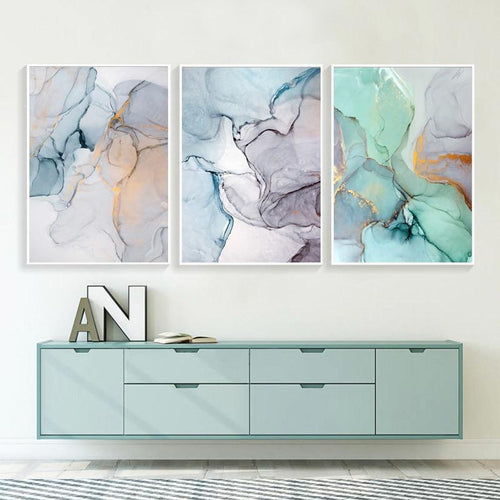 Abstract Watercolor Canvas Prints Painting & Calligraphy sweet-life A4 / 8.27