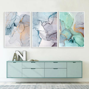 "Abstract Watercolor Canvas Prints Painting & Calligraphy sweet-life A4 / 8.27"" x 11.69"" / 21 x 30 cm Set of 3"