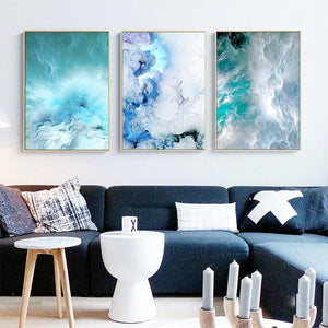 "Ocean Deep Canvas Prints Painting & Calligraphy sweet-life 12"" x 16"" / 30 cm x 40 cm Set of 3"