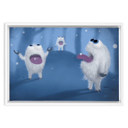 Baby Yetis Framed Wall Art Embla Frame Thickness: 1.25