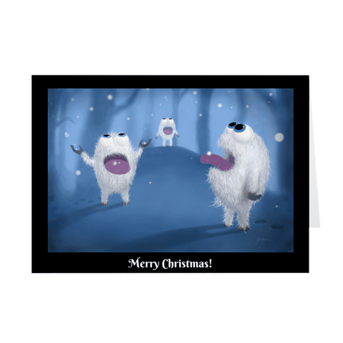 Baby Yeti Christmas Cards (Pack of 10) Embla Matte Cover 5x7 inch 10 Cards