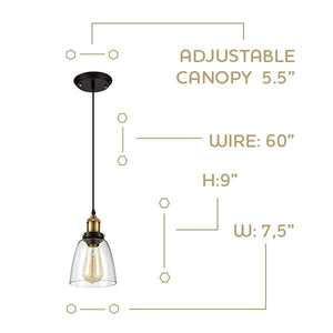 Industrial Style Edison Pendant Light Home - Homeware OHR Lighting