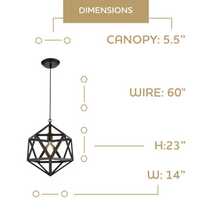 Edison Geometric Pendant Light Home - Homeware OHR Lighting