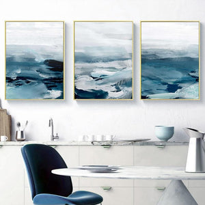 Abstract Ocean Landscape Wall Art Canvas Prints