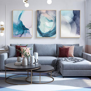 Abstract Color Splash Painting & Calligraphy Nordic Decoration Store