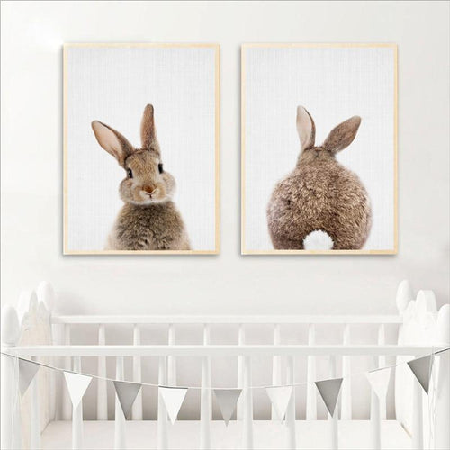 Bunny Baby Kids Room Canvas Prints Painting & Calligraphy aooins Store